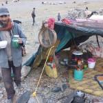 nocleh u nomádů v 2500m
